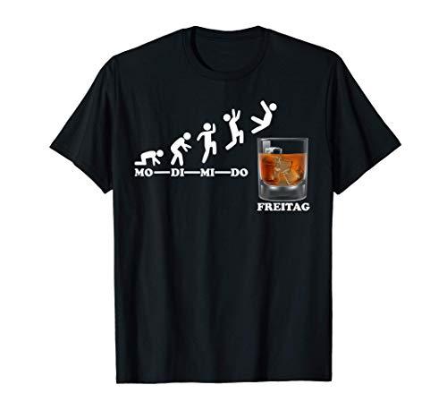 Woche Wochenende Freitag Whisky Geschenkidee Liebhaber T-Shirt