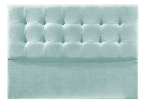 Cabecero de Cama tapizado en Tela Nido. Altura 120cm. Color Verde Agua. para Cama de 150 (Medidas 160x120x8) Pro Elite.