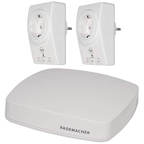 Rademacher HomePilot (3. Generation) + 2x Funk-Zwischenstecker 9472 Schalten Steckdose DuoFern | Aktionspaket Smart Home