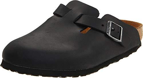 Birkenstock Boston - Oiled Leather (Unisex) Black Oiled Leather 41 (US Men's 8-8.5, US Women's 10-10.5) Regular