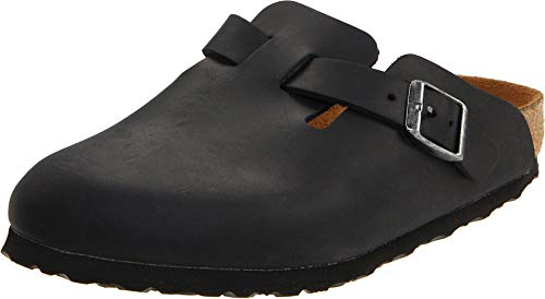 Birkenstock Boston  Oiled Leather Unisex Black Oiled Leather 40 US Men#039s 775 US Women#039s 995