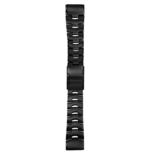 YOOSIDE Bracelet en titane pour Fenix 6X/Fenix 5X - Ajustable - 26 mm - Avec boucle en acier inoxydable - Pour Garmin Fenix 6X Pro/Sapphire/Solar, Fenix 5X Plus, Fenix 3 - Noir