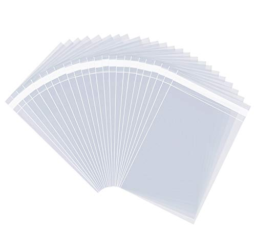 """Pack It Chic - 11"""" X 14"""" (1000 Pack) Clear Resealable Cellophane Cello Bags - Fits 11X14 Prints, Photos, Documents - Self Seal (More Sizes Available)"""