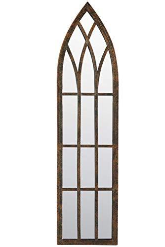 Metal rústico Exterior Espejo – gótico Arco Delgado Espejo