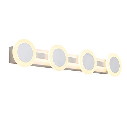 Magfylydl Moderne minimalistische acryl wandlampen 4 lichtjes LED waterdichte spiegel koplampen badkamer make-up lamp lamp lamp voor make-up tafel kast en slaapkamer woonkamer studie decoratie