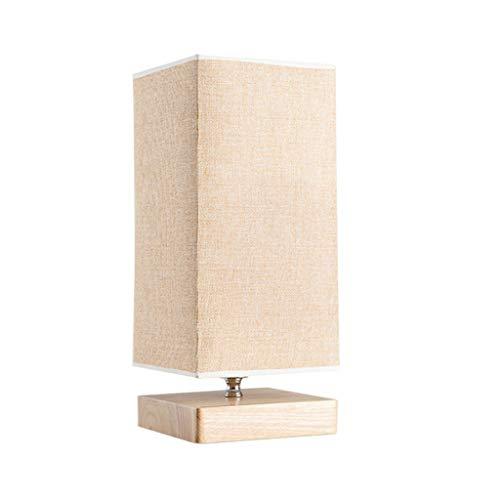 kerryshop Lámparas Dormitorio Lámpara de Mesa de Noche Lámpara de Escritorio de Estudio de Madera Creativa China Lámpara de luz Blanca LED Lámpara de Mesa