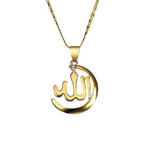 Hunpta - Collar con colgante de tótem islam para mujer, collares personalizados para cumpleaños, bodas y fiestas