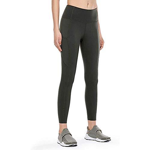 Unieke Power Gym-legging,yoga-broek met hoge taille en strakke pasvorm,naadloze legging met verborgen zak - Leger_Green_XS,yoga-broek met hoge taille Workout Running