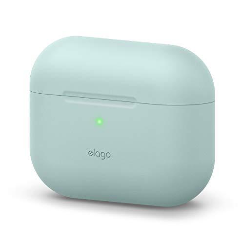 elago Original Funda de Silicona Compatible con AirPods Pro (2019) - 360° Protección de Cuerpo Completo, Premium Silicona [Ajuste Probado] (Verde Menta)