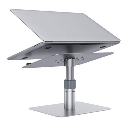 N \ A Height Adjustable Laptop Stand, 360 Rotating Aluminum Tablet Stand Ergonomic Computer Notebook Holder - Fits up to 17 inches Laptop Desk for Home Office