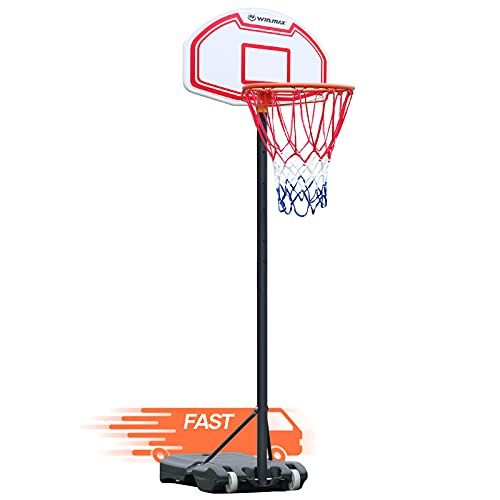 WIN.MAX Portable Basketball Hoops for Kids