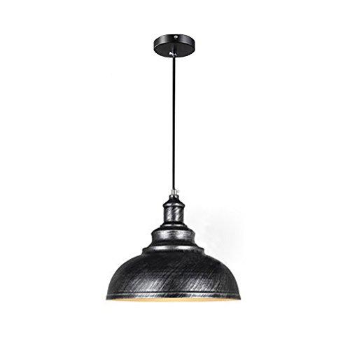 Wings of wind - Lampe en métal E27 Retro Plafonnier Vintage Pendentif Lampe Lampe Ombre (Sweep Silver)