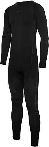 Viking Europe 2019 Eiger Ensemble de sous-vêtements pour homme Noir/gris Taille M
