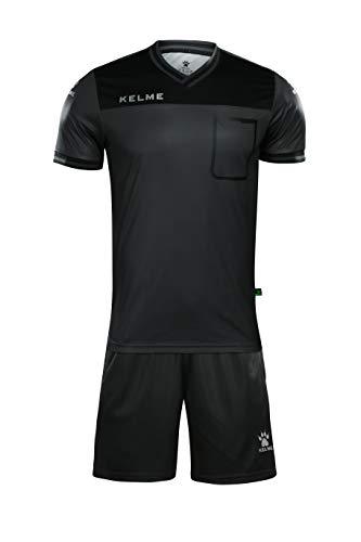 Kelme Shortsleeve Referee Set – Schiedsrichter-Set für Herren L schwarz/neongrün