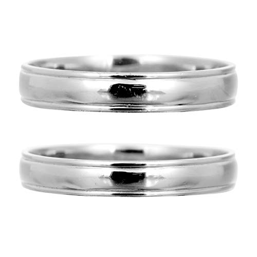 [ココカル]cococaru 結婚指輪 ペアリング プラチナ Pt900 2本セット 日本製 (レディースサイズ7号 メンズサイズ4号)