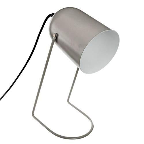 Paris Prix Atmosphera Créateur d'intérieur - Lampe à Poser en Métal Lunay 30cm Gris