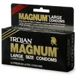 Trojan Magnum Large Size Latex Condoms, Lubricated, 12-Count Boxes (Pack of 3)