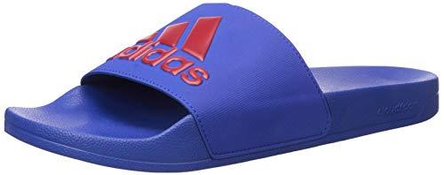 Adidas Adilette Shower Sandales à enfiler pour homme, Power Red/Core Black/Power Red - Bleu - Collegiate Royal Power Red Collegiate Royal., 52 EU