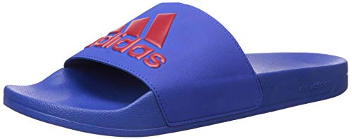 adidas Herren Shower Adilette, Dusche, Collegiate Royal/Power Red/Collegiate Royal, 43 EU