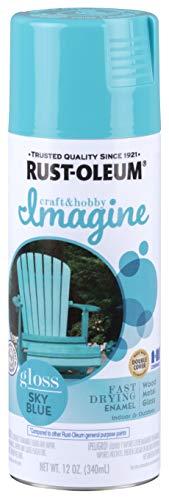 Rust-Oleum 302404 Imagine Spray Paint, 12 Ounce (Pack of 1), Gloss Sky Blue