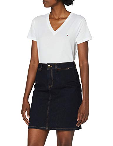 Tommy Hilfiger Damen Tailored Hw Skirt Rock, Denim (Anik), 36