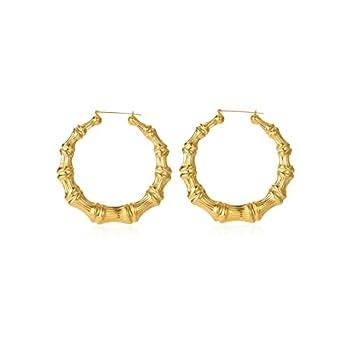 Best bamboo earrings gold Reviews