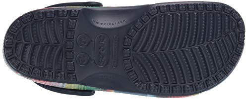 Crocs Men's and Women's Classic Striped Clog|Casual Slip on Water Shoe