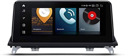 FWZJ 10.25 Pulgadas estéreo para automóvil Android 10 Navegación GPS Quad Core 2GB RAM 32GB ROM con Sistema iDrive retenido Soporta Auto Play WiFi DVR TPMS para BMW X5 X6 (Sistema CIC), Sistema C