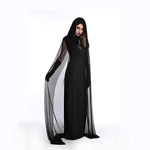 PIN Halloween Kostüme Damen Halloween Kostüm Nachtwandern Weibliche Geister Outfit Hexenkleid Multi-Yard Night Shop Karneval Party Kostüm,* L
