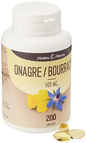 Herbes Et Plantes Onagre/Bourrache 200 Capsules 500 mg - L'emballage peut varier
