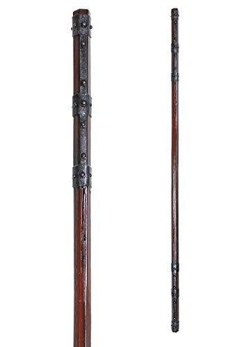 LARP Stab mit Eisenbändern aus Schaumstoff Polsterwaffe Magier Hexer Zauberstab Knüppel Mittelalter Schaukampf Wikinger
