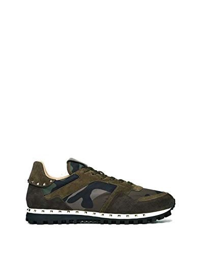 Valentino Luxury Fashion Garavani Herren RY2S0952NYMA63 Braun Wildleder Sneakers   Jahreszeit Permanent