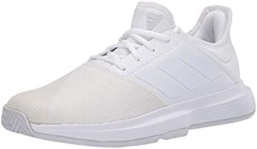 adidas Women's Game Court Wide Tennis Shoe, FTWR White/FTWR White/Dash Grey, 5.5 M US