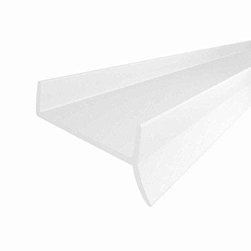 STEIGNER Küchenleiste Küchensockel DPD Abdichtungsprofil Sockel 15mm / 16mm / 17mm Dichtung erneuern 1,5m Dichtprofil WEISS