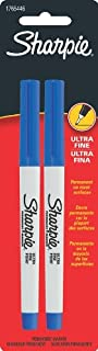 Sharpie Ultra Fine Point Permanent Markers, 2 Blue Markers (1765446)