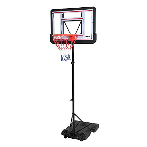 FCH Kids Portable Basketabll Hoop Height Adjustable 6.5FT-8FT Basketball Stand System with 32