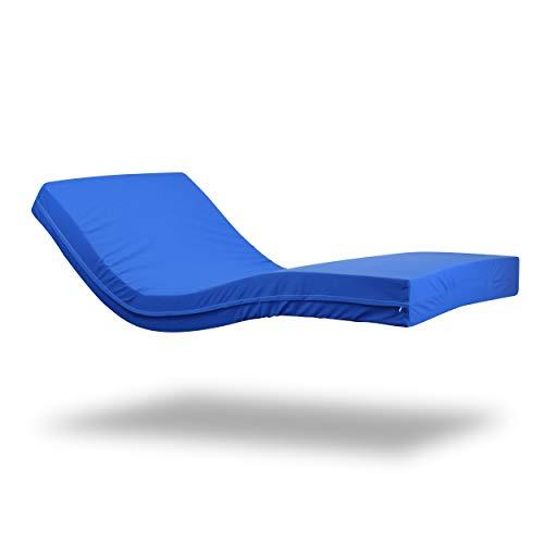 Gerialife® Colchón Geriátrico Hospitalario Articulado | 15 cm de Espuma HR | Funda Sanitaria Impermeable (80x190)