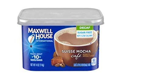 Maxwell House International Decaf Suisse Mocha Instant Coffee (4 oz Canisters, Pack of 4)