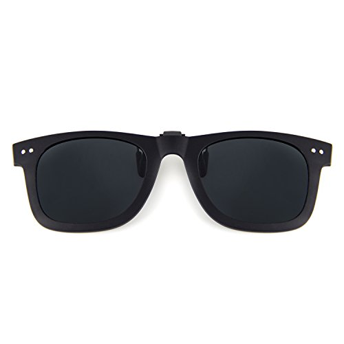Cyxus Clip-on Sunglasses Polarized UV Blocking Sun Glasses for Men and Women