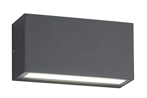 Trio Leuchten Trent 226960242 LED Außen Wandleuchte, Aluminium, 10 Watt, Anthrazit