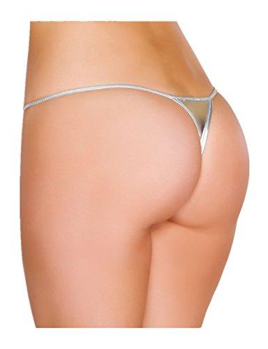comeondear Mujer Erótica Tanga Sexy de Hilo Mini Brillante Talla Grande G String Thong (Ropa)