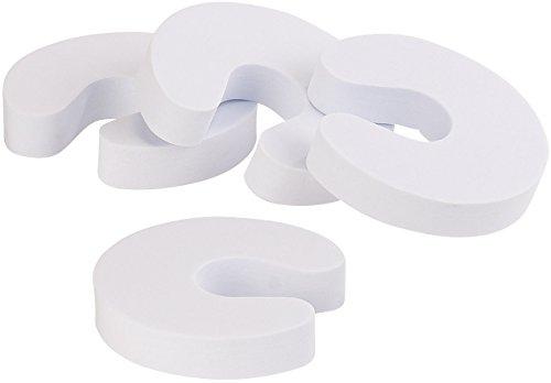 infactory Schaumstofftürstopper: 4er-Set Schaumstoff-Türstopper, Klemmschutz, weiß (Klemmschutz Tür Schaumstoff)