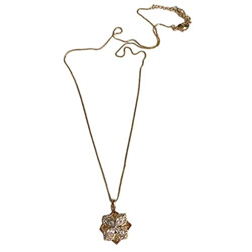 QKFON Pendientes giratorios de trébol, chapados en oro, joyería de lujo para mujeres, novia, con forma de trébol de la suerte