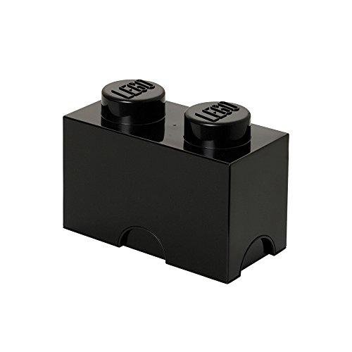 LEGO, Caja de almacenaje con diseño de ladrillo 2, color negro