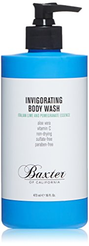 Baxter of California Invigorating Body Wash for Men | Italian Lime and Pomegranite Essence | For all Skin Types | 8 oz