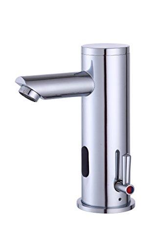 Fyeer Automatischer Sensor Wasserhahn Automatik berührungslose Waschtischarmatur Mischbatterie für Waschbecken Badzimmer,Infrarot Wasserhahn, Messing verchromt Tpy A 0135A (A)