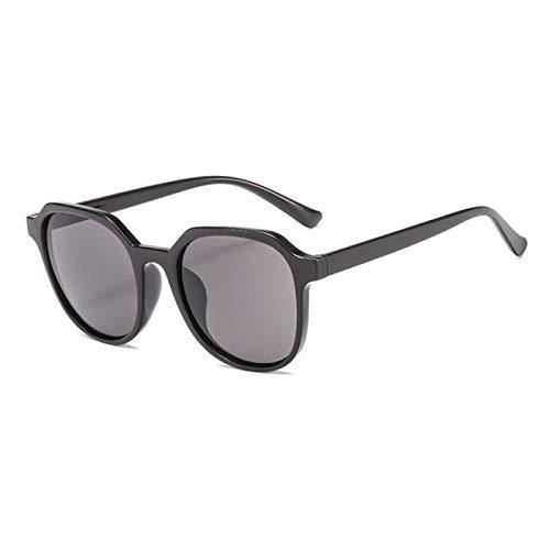 NJJX Gafas De Sol Retro Con Forma De Ojo De Gato Para Mujer, Hombre, Moda, Montura Redonda Salvaje, Gafas De Sol De Color Jalea, Espejo, Moda, Gafas De Conducción, Negro