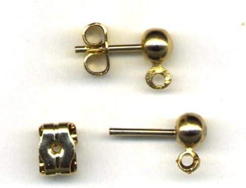 National Artcraft Gold Filled Pierced Post Earrings (Pkg/12 Pr.)
