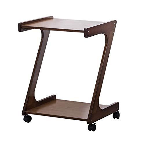 FABAX Tavolino da Salotto Tabella di tè di bambù con la Rotella Universale Estraibile Tavolino Creativa Z a Forma di Tavolino Tavolino for Camera da Letto Bedside Tavolino da caffè Creativo