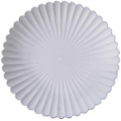 WQG Placa de cerámica Blanca de Cuatro en uno, Placa de Comedor, Placa de Ensalada, Placa de Ensalada, Placa de Ensalada, Placa de Flores congelada, Adecuada para Cocina casera (Color : Set of Four)